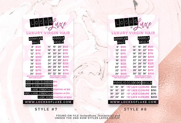 Hair Business Flyer & IG Templates in Flyer Templates - product preview 4
