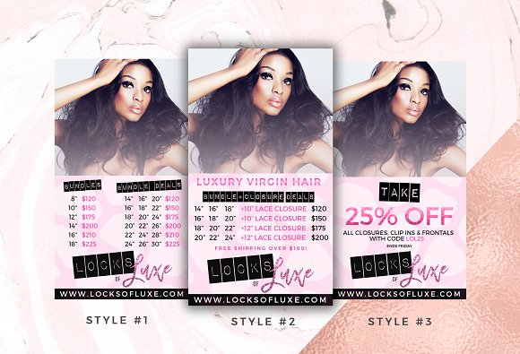 Hair Business Flyer & IG Templates in Flyer Templates - product preview 2