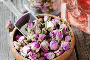 small dry buds of roses, tea, karkad