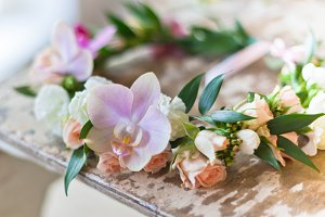 Handmade floral wreath