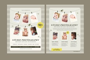 Newborn Photographer Flyer
