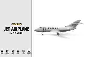 Jet Airplane Mockup