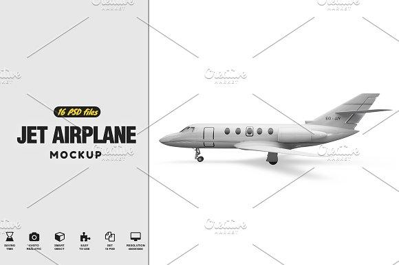 Free Jet Airplane Mockup