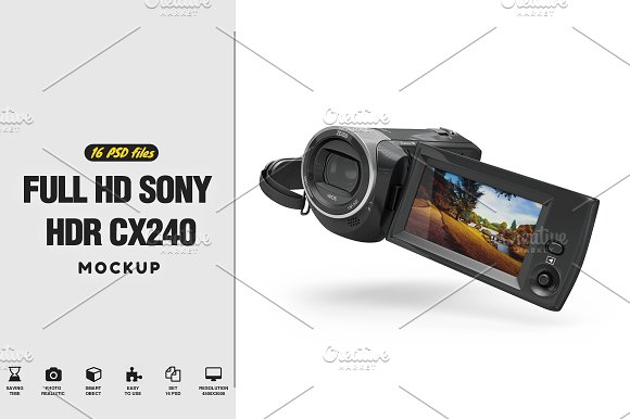 Full HD Sony HDR CX240 MockUp