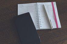 Schedule and smartphone