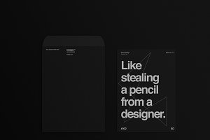 Black Stationary Mockup Pack No. 3