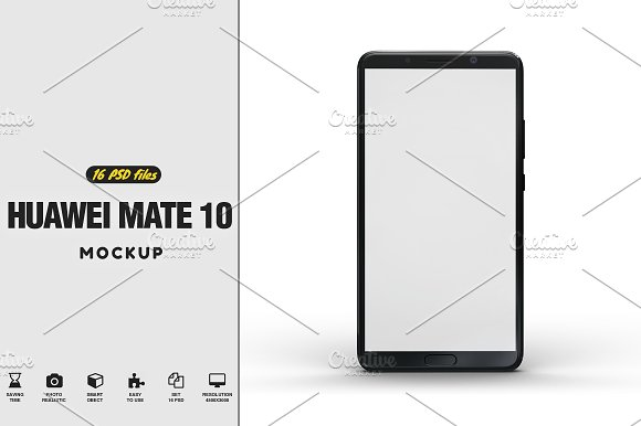 Huawei Mate 10 Vol.1 Mockup-Graphicriver中文最全的素材分享平台