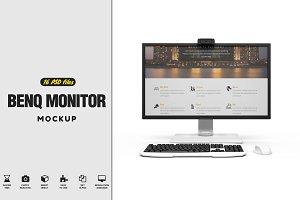 Benq Monitor Mockup