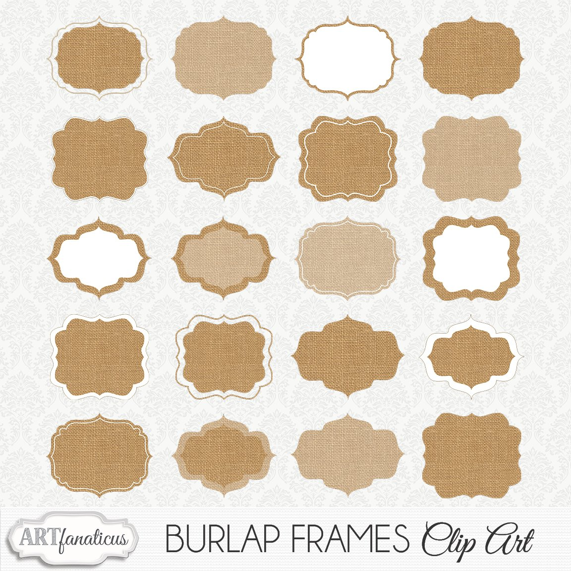 BURLAP FRAMES CLIPART ~ Illustrations ~ Creative Market