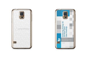 Galaxy S5 2d Flexi Clear Case Mockup