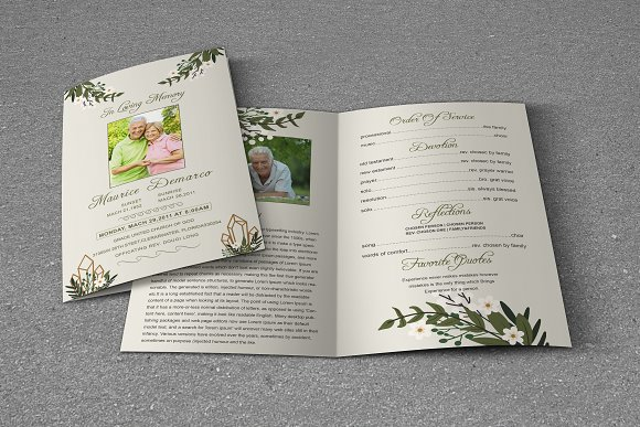 Funeral Program Template in Brochure Templates - product preview 1