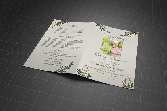 Funeral Program Template in Brochure Templates - product preview 2