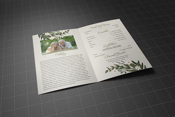 Funeral Program Template in Brochure Templates - product preview 3