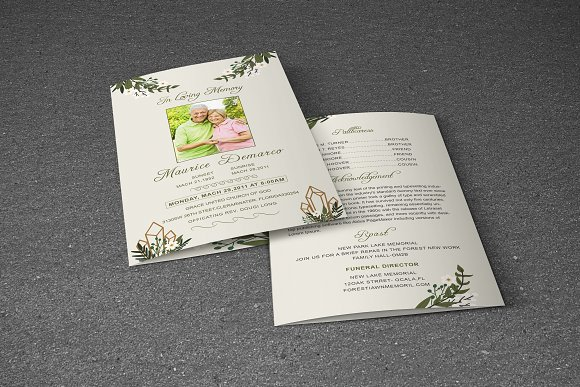 Funeral Program Template in Brochure Templates - product preview 4