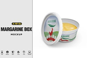 Margarine Box MockUp