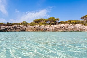 cala Talaier in Menorca island, Spai