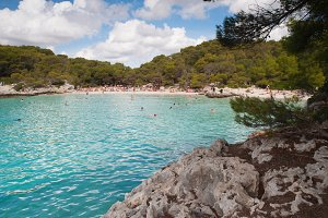 Turqueta beach in Menorca, Spain.