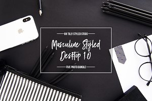 Masculine Desktop Photo Bundle S1