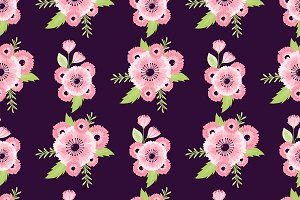 Nature flower illustration seamless