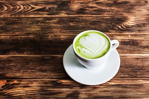 Matcha latte cup