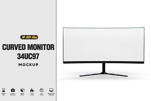 Curved Monitor 34uc97 Mockup