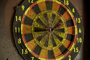 old dart board