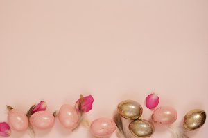 Pink and Gold Easter Eggs