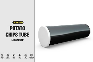 Potato Chips Tube Mockup