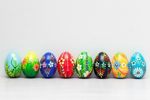 Hand-painted Easter eggs collection