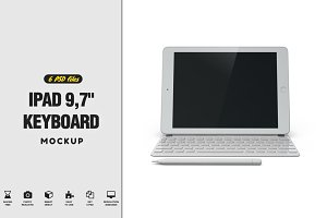 "iPad 9,7"" Keyboard Mockup"