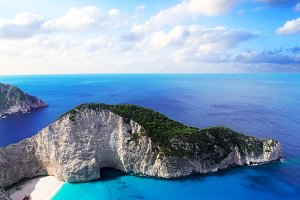 Beautiful lanscape of Zakinthos isla