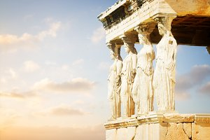Erechtheion temple in Acropolis