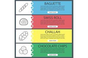 Bakery web banner templates set