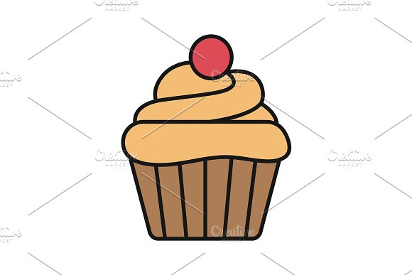 Cupcake Color Icon