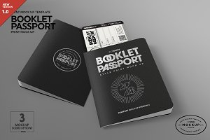 Booklet Passport Print MockUp
