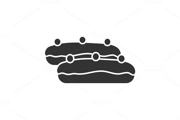 Eclair Cake Glyph Icon