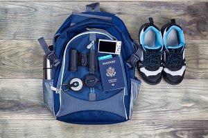 Travel Kit on Wood