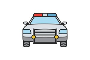 Police car color icon