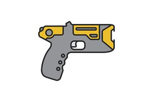 Taser color icon