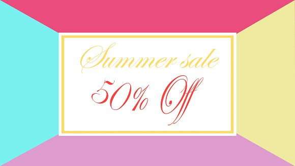 Summer Sale 50 % Off