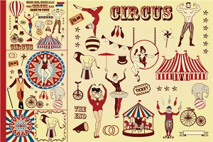 Pattern of the circus stars