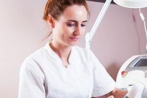 Beauty treatment in beauty salon