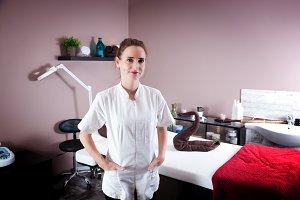 Beautician in her modern salon