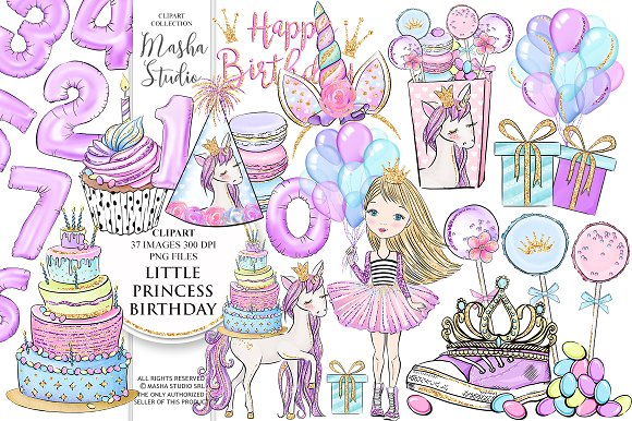 PRINCESS BIRTHDAY Clipart
