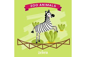 Vector Zoo Animal, Zebra