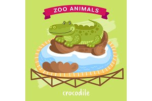 Vector Zoo Animal, Crocodile
