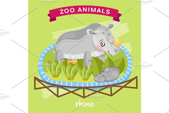Vector Zoo Animal Rhino