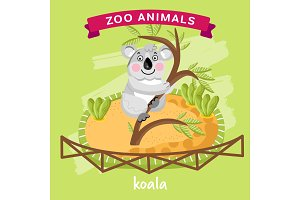 Vector Zoo Animal, Koala