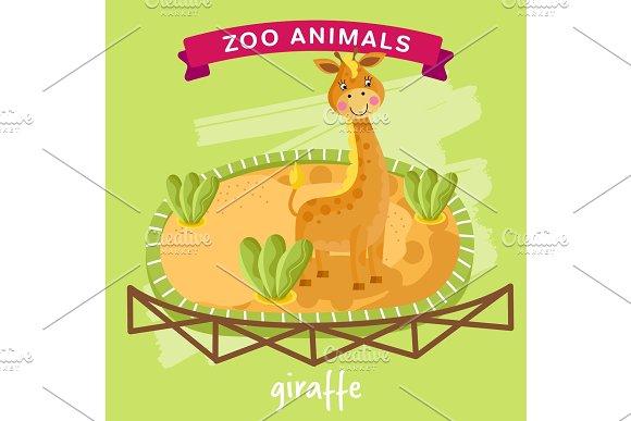 Vector Zoo Animal Giraffe
