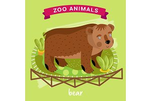 Vector Zoo Animal, Bear